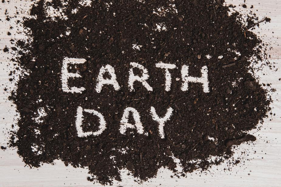 earth day written in dirt